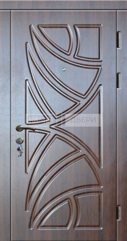 Уличная входная металлическая дверь с отделкой Винорит