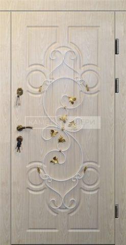 Купить металлическую дверь с отделкой МДФ Винорит с ковкой